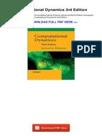 Computational Dynamics 3rd Edition 773565