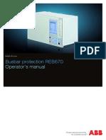 Operator s Manual REB670 1.2