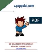 Sbi 2015 Recruitment Exam English Sample Paper