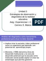 Estrategias de Observacion y Diagnostico de La Realidad Educativa - Exp. i. c. Aula 2 Sem 2010