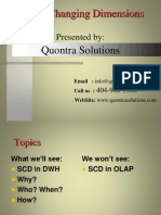 Slowly Changing Dimensions by Quontra Solutions
