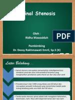 Presentasi Spinal Stenosis