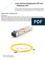 What Is The Difference Between Singlemode SFP and Multimode SFP