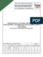 HSTD-PTSCMC-TS-Q-PR-0001 Dimension Control Procedure for TOPSIDE Fabrication