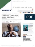 Ram Charan - Cash is King