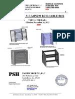 Modular Aluminum Buildable Box Red