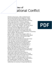 An Overview of International Conflict