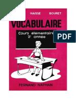 Langue Francaise Vocabulaire CE2 David Haisse Bouret 1954