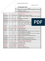 Academic Calendar 2014-2015 (Mar 4, 2014)