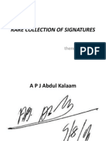 Rare Collection of Signatures
