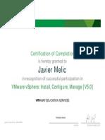 Vmware v5.0 Certificate Course