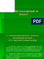 Expeditii Internationale in Transportul Maritim