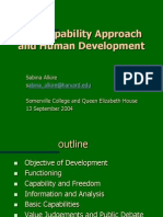 Capabilities and Human Development, Sabina Alkire