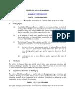 Sample Articles of Amendment Preferred Share Terms 20101028