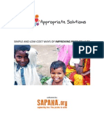 Appropriate Solutions - Simple and Low-cost Ways of Improving People's Lives