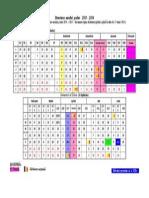 Calendar an Scolar 2014-2015
