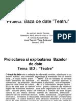 Baza de Date Teatru