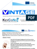VINTAGE Presentation for Keyconet Networking meeting