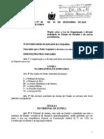 Lei Complementar 096-2010 - Organização e Divisão Judiciarias Do Estado Da Paraiba (Art. 187 a 198)