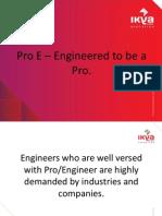 Pro E Training Institute in Hyderabad