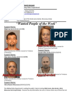 Wanted People of the Week-Jarvis,Becker,Mousseau,Brady
