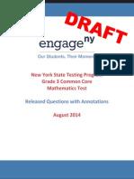 2014 Math Grade 3 Sample Annotated Items