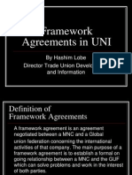 Framework Agreements CSR GUF
