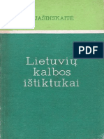 Lietuvių kalbos ištiktukai - I. Jašinskaitė
