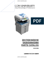 Ricoh MP2550 Parts Catalog