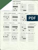 Acordes cuatriadas para guitarra