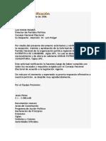 Carta de Ratificación
