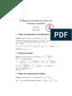 Techniques de recherche des limites des intégrales à paramètre