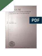 Per un'analisi linguistica del De situ Terrae Sanctae di Teodosio (VI sec.). L'uso delle preposizioni, «Aevum» 79 (2005) 2, pp. 239-248.
