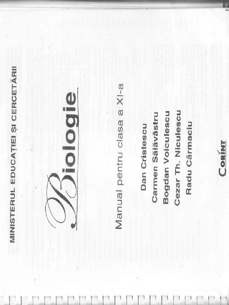 1 Manual Biologie Clasa Xi Corint