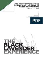 The Black Lavender Experience 2009 Program