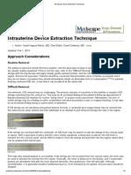 Intrauterine Device Extraction Technique