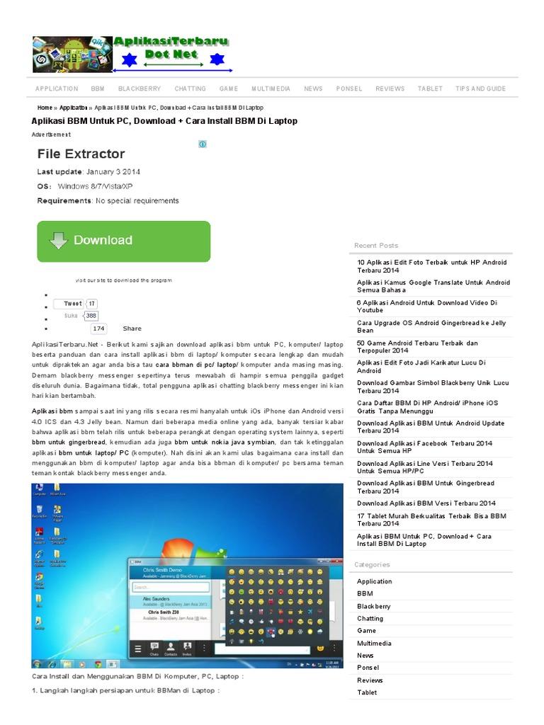 Aplikasi BBM Untuk PC