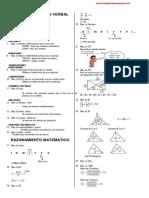 Solucionario Examen de Admisión UNSA - Colección El Sapito de Arequipa - Exm 001