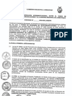 Convenio suscritto entre el Fitel y GR de Lambayeque