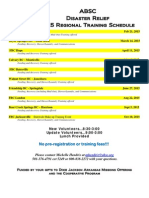 2015 ABSC DR Training Schedule