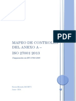 ISO 27001 2013 Mapeo de Controles