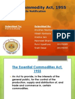 Essential Commodity Act, 1955