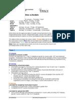 WACE Activities Schedule 2012 PDF