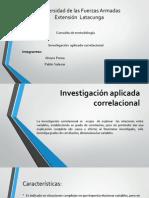investigacion aplicada  correlacional