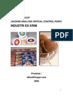 Model Rencana Haccp Industri Es Krim