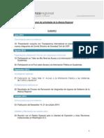 Resumen de Actividades 2° semestre 2014