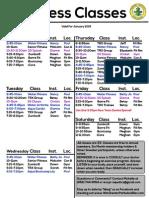 Fitness Class List 1 15