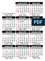 Calendario_2015 Em Portugues (Vetorial)