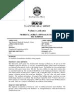 Harrisburg Distillery Variance Case Report