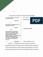 City of Bellevue v. Pine Forest Properties, Inc., No. 71827-4-1 (Wash. App. Dec. 22, 2014)